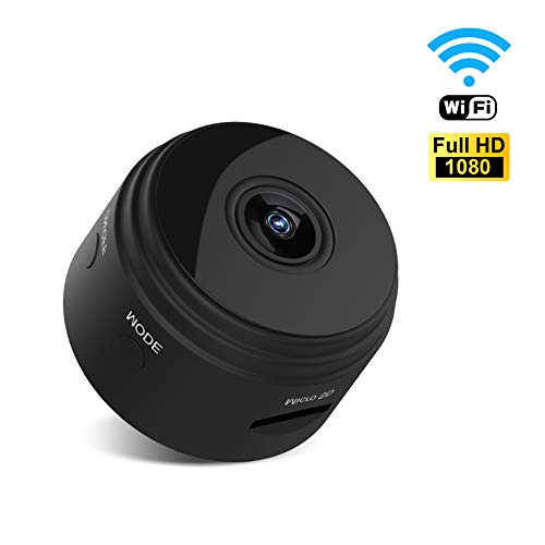 UTOPB Mini Spy Hidden Camera, Latest Wireless WiFi HD 1080P Camera Cam with Night Vision and Motion Detective, Small Security Nanny Cameras Cams with APP for Home and Office