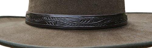 Clint Eastwood Spaghetti Cowboy Western Leather Hatband - Dark Brown - Great Gift