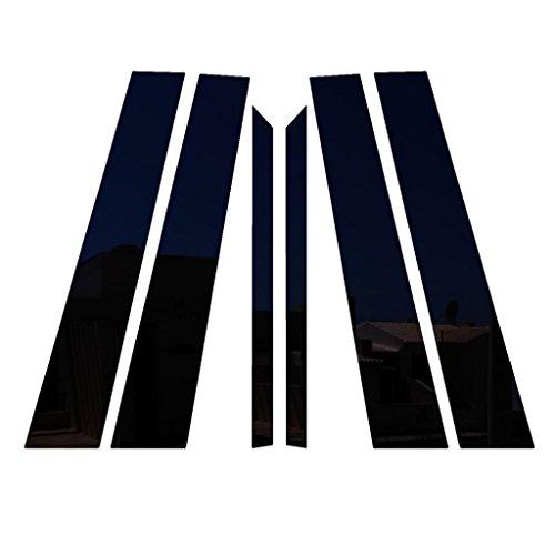 Ferreus Industries Piano Black Pillar Post Trim Cover fits: 2006-2011 Mercedes ML All Models - Black Posts Piano