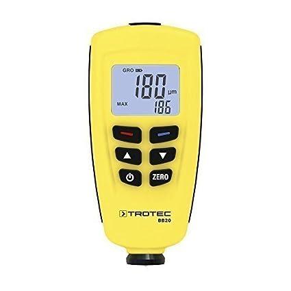 TROTEC 3510205075 BB20 Schichtdicken-Messgerät Lackdickenmessgerät Lackprüfer