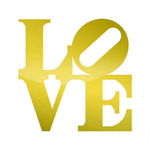 RDW Metallic Love Park Sticker Die Cut Philly Philadelphia - Gold