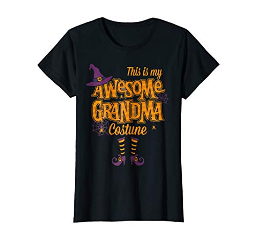 Womens Halloween This Is My Awesome Grandma Costume Graphic T-Shirt -