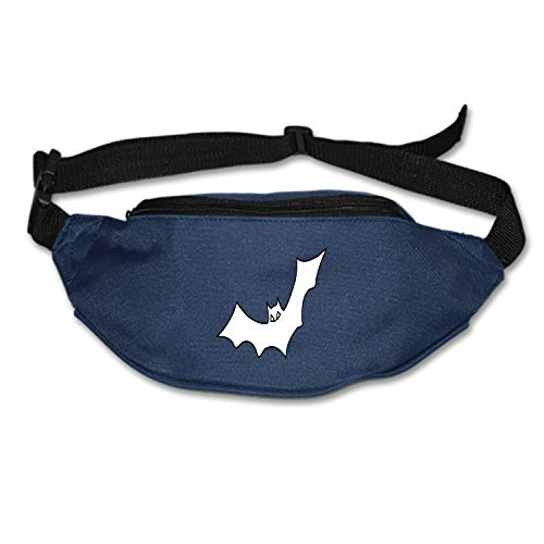 KATONGHUJHJH Bat Black Outline Bird Fly Halloween Animal Waist Pack Portable Fanny Pack Outdoor Hiking Travel Waist Bag Daily Life Cycling Camping Hiking Hunting Fishing Shopping - -