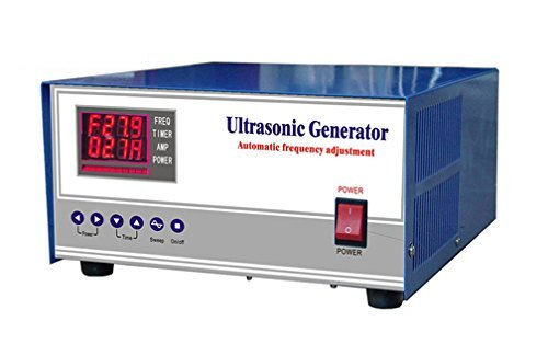 CGOLDENWALL 1000W Digital Ultrasonic Generator 20khz / 25khz / 28khz / 30khz / 33khz / 40khz ultrasonic Cleaning Generator Frequency Power Adjustable Double Show CE FCC Certification (40khz)