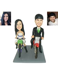 Model C61 Groom And Bride Wedding Cake Topper Fully Custom Design Couple Figurines Based On Customers Photos