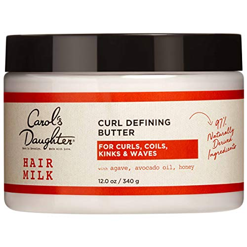 Curly Hair Products by Carol's Daughter, Hair Milk Curl Defining Butter For Curls and Coils, with Agave, Avocado Oil and Honey, Silicone Free and Paraben Free Butter for Curly Hair, 12 fl oz
