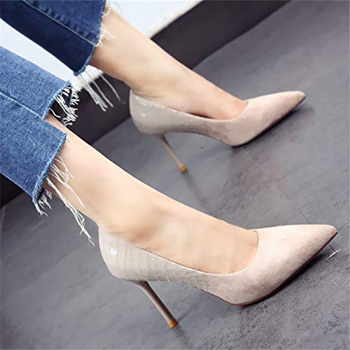 Boca los de Baja de Fiesta Manera la La Temperamento de otoño Boda YMFIE de la la Estilete Elegante Temperamento Zapatos el Solos Zapatos de Tacones Primavera y señalaron Aguja C del de Twxq48Y