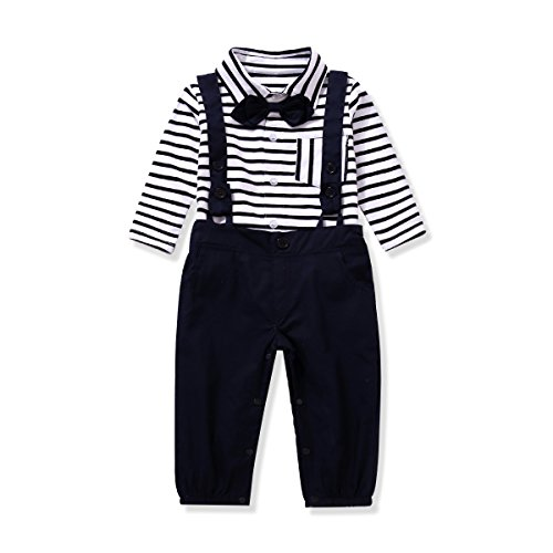 Boys Formal (Ferenyi US Baby Boys Formal Party Wedding Tuxedo Jumpsuit Overalls Rompers (19-24 months,)