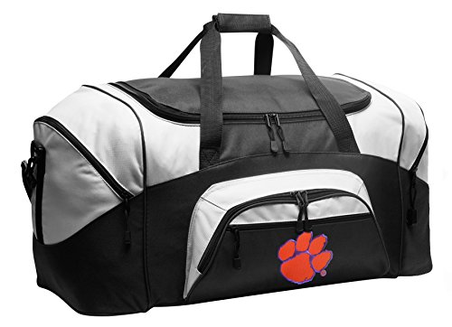 Large Clemson Tigers Duffel Bag Clemson University Gym Bags or Suitcase by Broad Bay