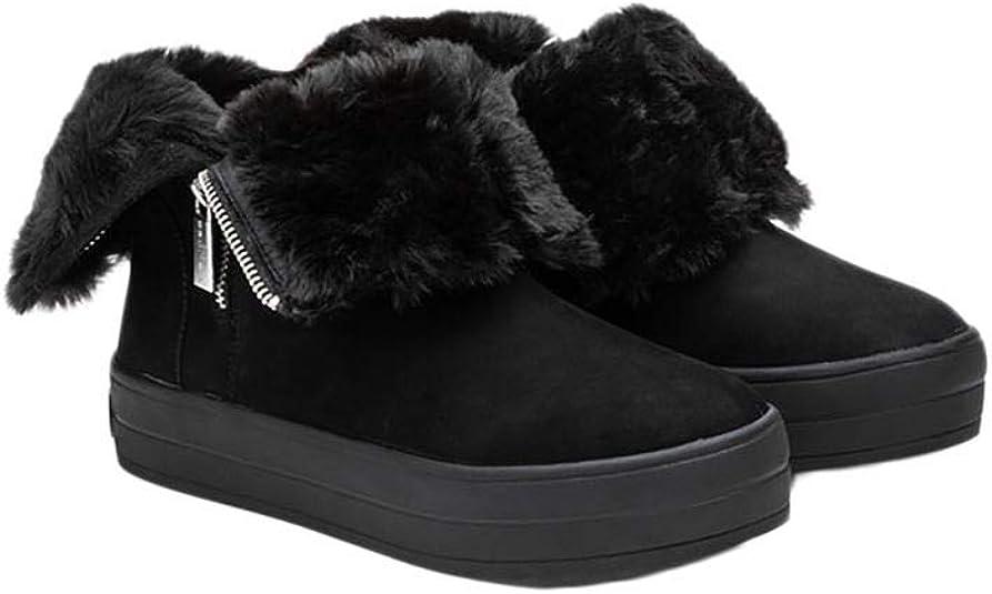 J/Slides - Women's Henley Boots - Black