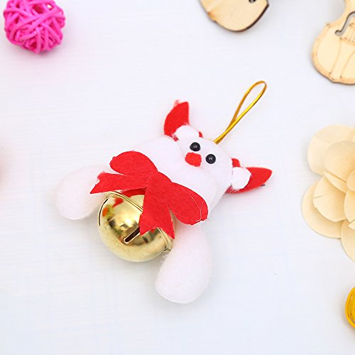 Christmas Ornament Christmas Tree Pendant Doll Bell Claus Snowman Bell Accessories Christmas Items Fawn paragraph
