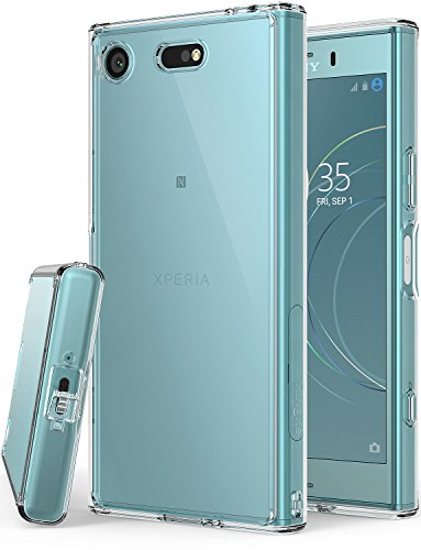 Sony Xperia XZ1 Compact Phone Case Ringke [FUSION] Crystal Clear Minimalist Transparent PC Back TPU Bumper [Drop Protection] Scratch Resistant Natural Shape Protective Cover for XZ1 Compact - Clear