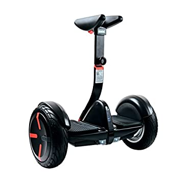 SEGWAY miniPRO Smart Self Balancing Transporter 2018 Edition, 12.5 Mile Range, 10 MPH of Top Speed, 10.5 Pneumatic Air Filled Tires, Mobile App Control, Customizable LED Lights (Black)