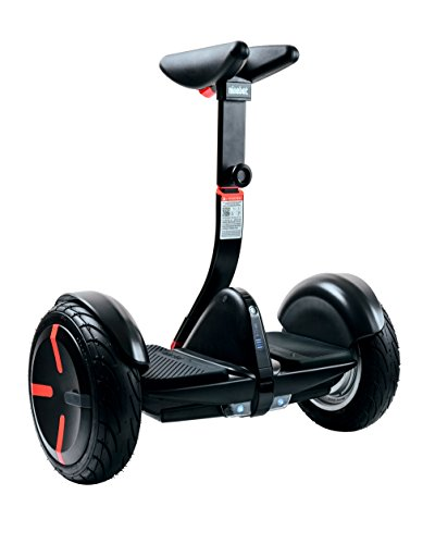 (SEGWAY miniPRO Smart Self Balancing Transporter 2018 Edition, 12.5 Mile Range, 10 MPH of Top Speed, 10.5-Inch Pneumatic Air Filled Tires, Mobile App Control, Customizable LED Lights (Black))