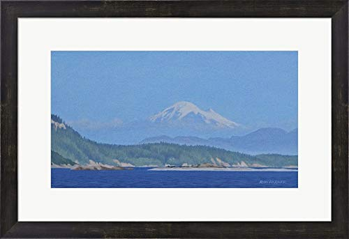 Mt Baker by Ron Parker Framed Art Print Wall Picture, Espresso Brown Frame, 25 x 17 ()