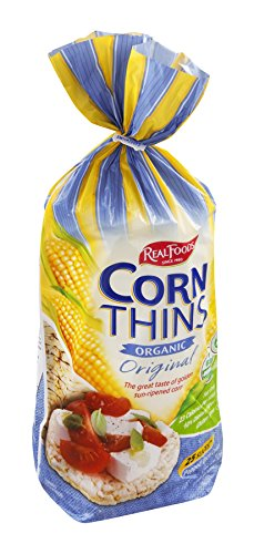 Real Foods Organic Corn Thins, Original Flavor, 5.3-Ounce Bag (Pack of 12)