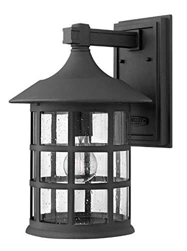 Hinkley 1805BK Traditional One Light Wall Mount from Freeport Collection in Blackfinish, Large, Black