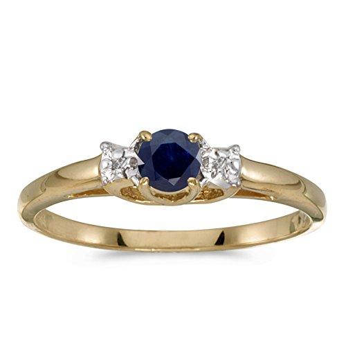 Diamond & Sapphire Bypass Ring - 1