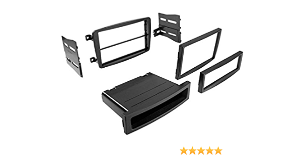 Carxtc Double Din Install Car Stereo Dash Kit for a Aftermarket Radio Fits 2001-2004 Mercedes C-Class Trim Bezel is Painted Matte Black