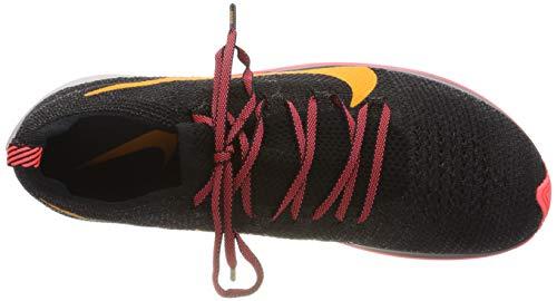 Nike Men's Zoom Fly Flyknit Black/Flash Crimson/Orange Peel Nylon Running Shoes 7.5 M US by Nike (Image #7)