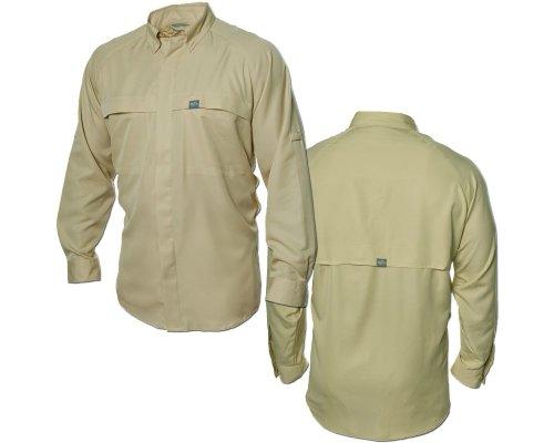 G. Loomis Vented Raglan Long Sleeve Buttondown Shirt - Tan - Medium