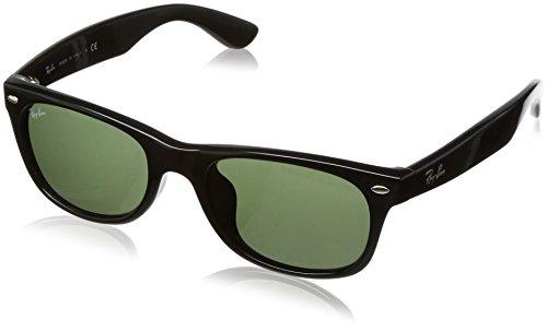Ray-Ban Sunglasses - RB2132F Wayfarer / Frame: Black Lens: Green - Ray 18 Wayfarer 52 New Ban