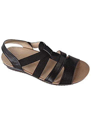 Sofwear Women's Adult by Beacon Lynette Casual Sandals 9 Medium US Women/Black