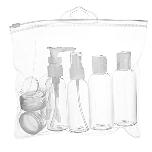 Hanging toiletry bag travel bottle set for shower for Mens bath set