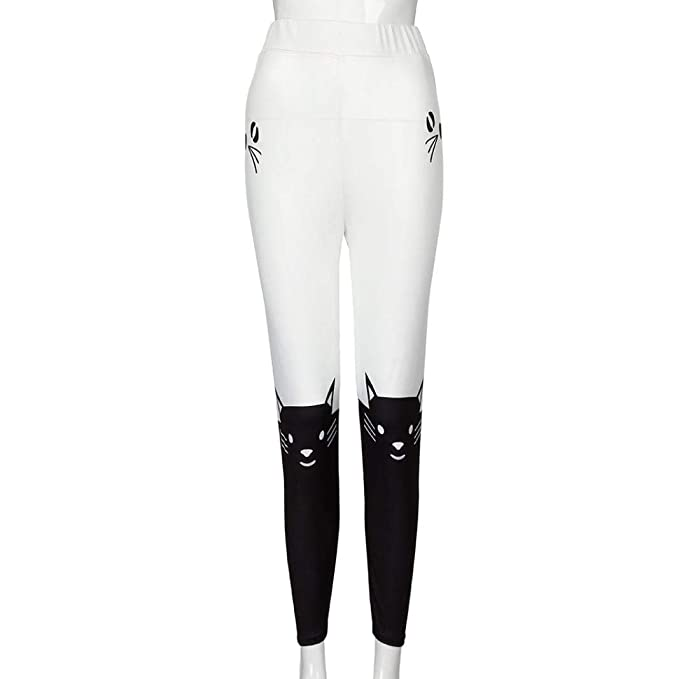 Amazon.com: iYBUIA Moda Mujeres Leggings Yoga Deporte Medias ...