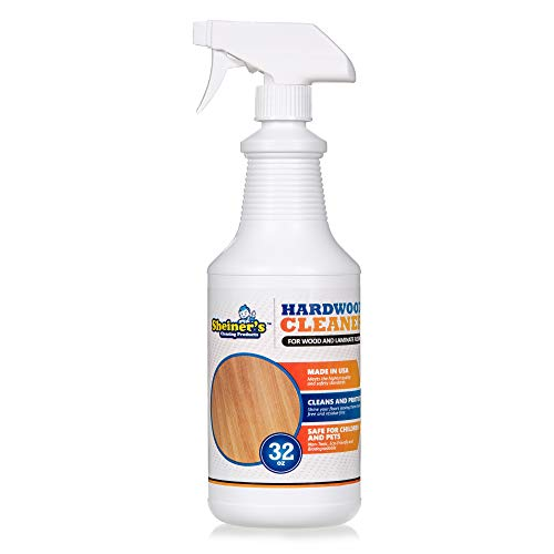 Sheiner's Hardwood Floor Cleaner for Deep Cleaning of Wood, Laminate, Natural and Engineered Flooring, Ready-to-Use, pH Neutral and Non Toxic, Safe for All Surfaces, 32 Oz