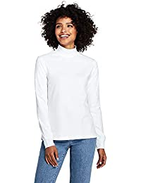 Women's Relaxed Cotton Mock Turtleneck