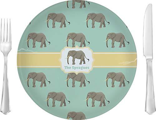 (Elephant Glass Lunch/Dinner Plate 10