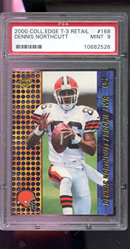 - 2000 Collector's Edge T3 T-3 Retail Dennis Northcutt #168 Graded Football Card PSA 9 MINT