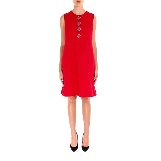 Dolce   Gabbana - Vestito - Donna Rot Dimensioni Marca 48  Amazon.it ... 18c6435b91e