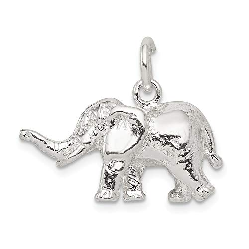 925 Sterling Silver Elephant Pendant Charm Necklace Animal Fine Jewelry Gifts For Women For ()