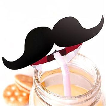 Viewhuge 50 Pcs Lot Rouge Lvres Moustache Lollipop Dcoration Cartes De Visite Papier Anniversaire Fte
