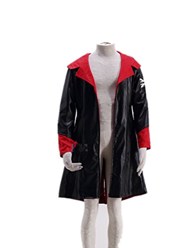 Dmc May Cry Devil Costumes (Love DmC Devil May Cry Cosplay Costume-Dante Nephilim Leather)
