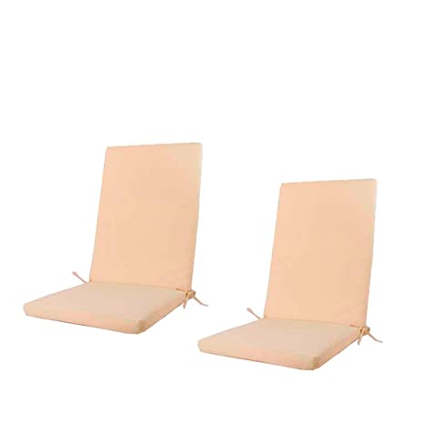 Edenjardi Pack 2 Cojines para sillones de jardín reclinables Color Beige | Tamaño 114x48x5 cm | Repelente al Agua | Desenfundable | Portes Gratis