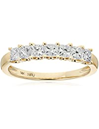 14k Yellow Gold Princess-Cut Diamond Wedding Band (1cttw, I-J Color, I1-I2 Clarity)