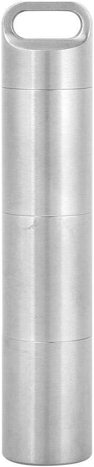 port/átil Resistente al Agua CNC de Acero Inoxidable Travel Pill Case Organizador Contenedor de Almacenamiento de Supervivencia al Aire Libre VGEBY Pastillero