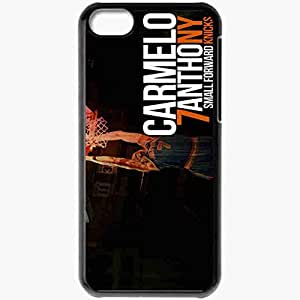 Personalized iPhone 5C Cell phone Case/Cover Skin 14653 carmelo anthony knicks wall 5 by angelmaker666 d3bmmoy Black