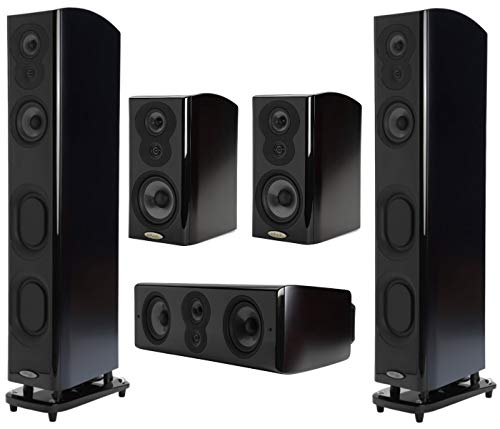 Polk Audio Home Theater Speaker Surround Sound System, Includes 2 LSiM705 Floor-Standing Tower Speakers + 1 LSiM706c Center Channel Speaker...