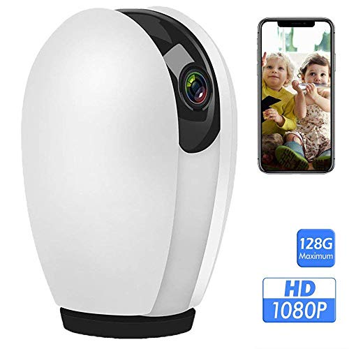 Home Security Camera, Zeetopin 1080P HD Wireless IP Surveillance System with 2-Way Audio, Night Vision, 360 Motion Sound Detection, Wi-Fi Mini Dome Camera for Baby Pet Monitor