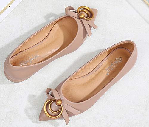 Noeud Chaussures Belle Travail De Bout Pointu Ballerines Femme Aisun Rose nxTHSS