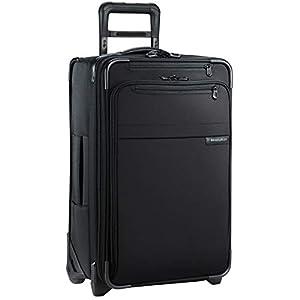 Briggs & Riley U122CX-4 Baseline Domestic Carry-On Expandable Upright Suitcase, Black, Medium