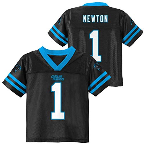 Outerstuff Cam Newton Carolina Panthers #1 Black Kids Home Player Jersey (4)
