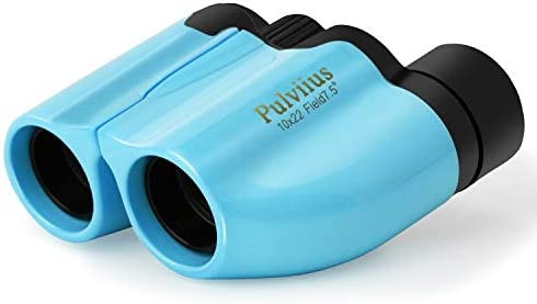 Binoculars for Kids Shockproof Waterproof High Resolution 10×22 Mini Compact Lightweight Binoculars for Bird Watching, Hiking, Camping – Birthday Presents – Best Gifts for 3-12 Years Boys Blue