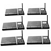 Samcom 10-Channel Digital FM Wireless Intercom System for Home and Office 6 Stations