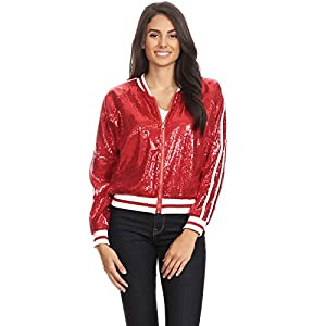 Red Bomber Jacket-Ugly Christmas Jacket