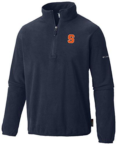Columbia NCAA Syracuse Orange Men's Ridge Repeat Half Zip Fleece Top, Medium, Navy